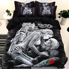 skullbedding, King, kingsizecomforterset, homedècor