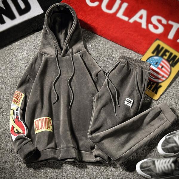 track suit, velvet, Men's Fashion, sweat suit
