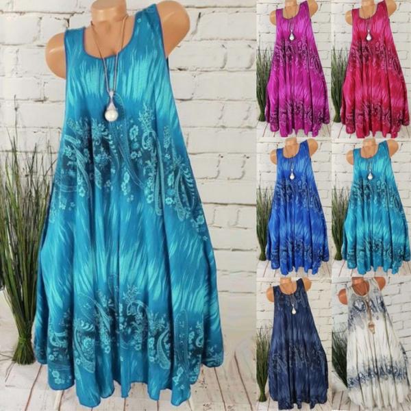 Summer, long dress, plus size dress, Dress