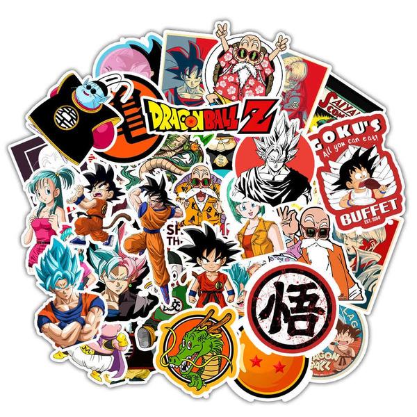50Pcs Anime DragonBall Z Super Saiyan Goku Stickers Skateboard Laptop Car Decals