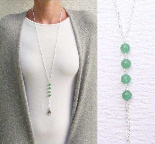 silverbeadedlanyard, Fashion, badgeholder, Jewelry