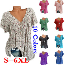 blouse, Summer, Plus Size, Floral print
