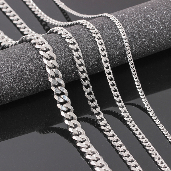 Sterling, Chain Necklace, menchain, punk necklace
