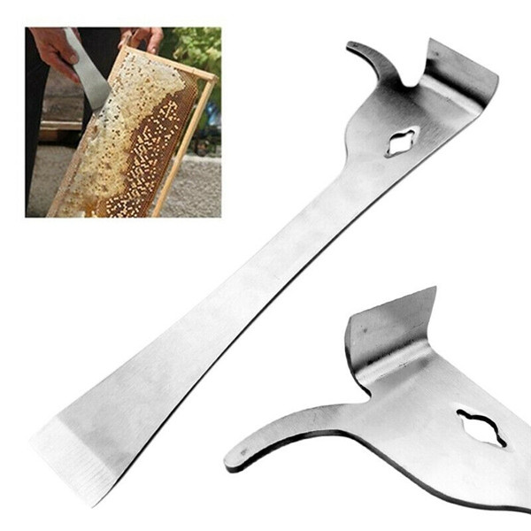 Stainless Steel Bee Hive Claw Scraper Beekeeping Tool Pry Equipment Yellow