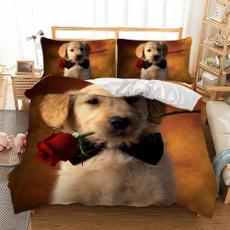 beddingkingsize, Blues, golden, Mascotas