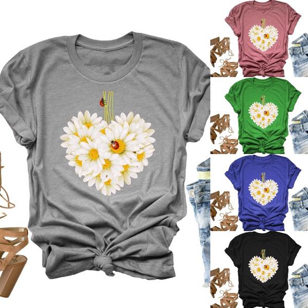Summer, Plants, Plus Size, Shirt