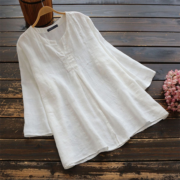 blouse, sleeve v-neck, blusasfemme, tunic