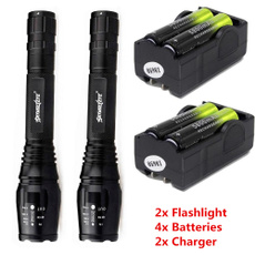 Flashlight, 18650battery, led, flashlighttorch