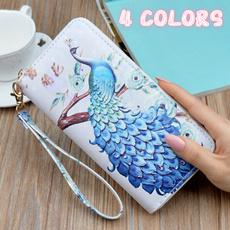 cute, walletsampbag, Capacity, peacock