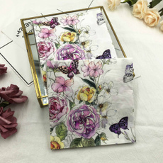 tablemat, Flowers, Colorful, Vintage