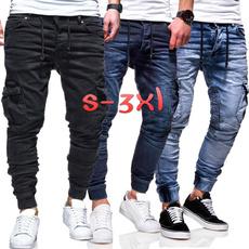 men's jeans, slim, Combat, pants