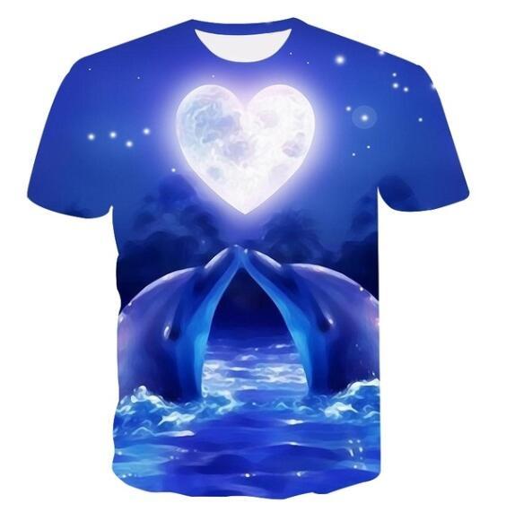 bluetshirt, Fashion, summer t-shirts, Print