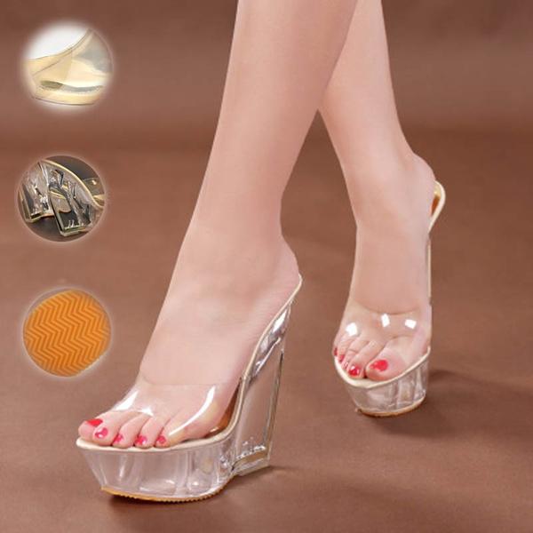 Wedges Sandals Sapato Feminina 14cm