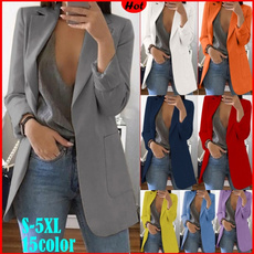 Moda, Blazer, Office, Women Blouse