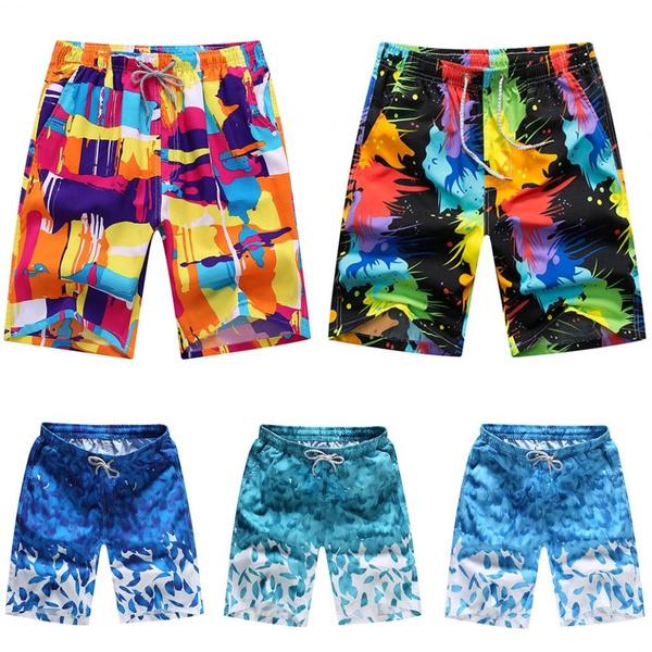 menshortpant, swimmingtrunk, Beach Shorts, Colorful