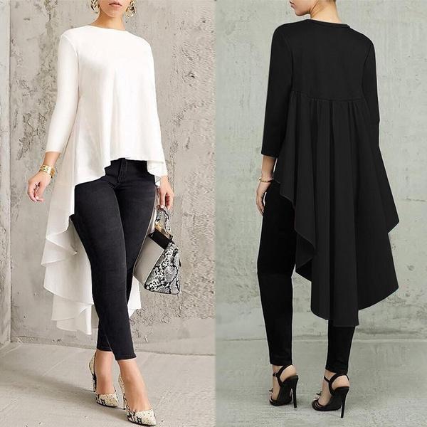 blouse, Women, womenirregulartop, vintagetopsforwomen