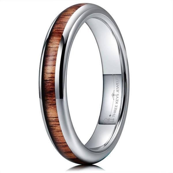 Steel, Wood, tungstenring, wedding ring