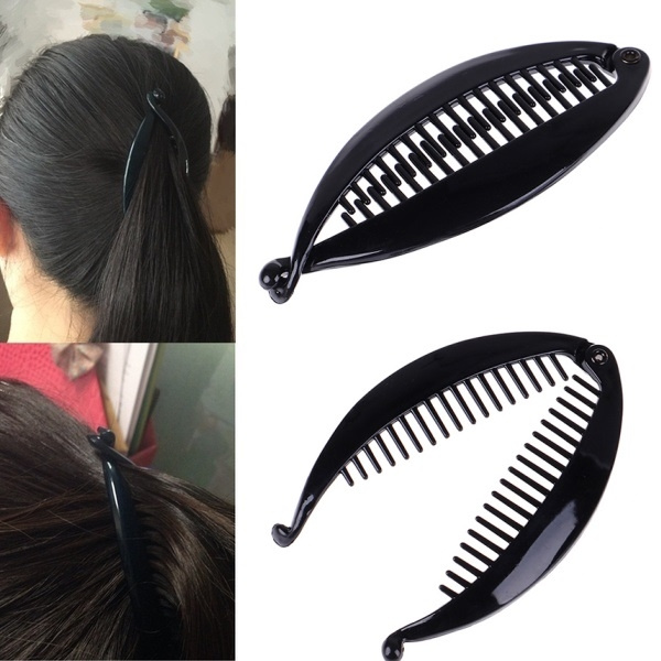 Details about  /2 Pcs Women Ladies Fish Shape Hair Claw Clips Banana Clips Barrettes Hairpins qi