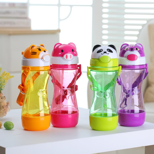1Pc Cute Baby Kids Straw Cup Drink Water Juice Cup Bottles Children Gift JD