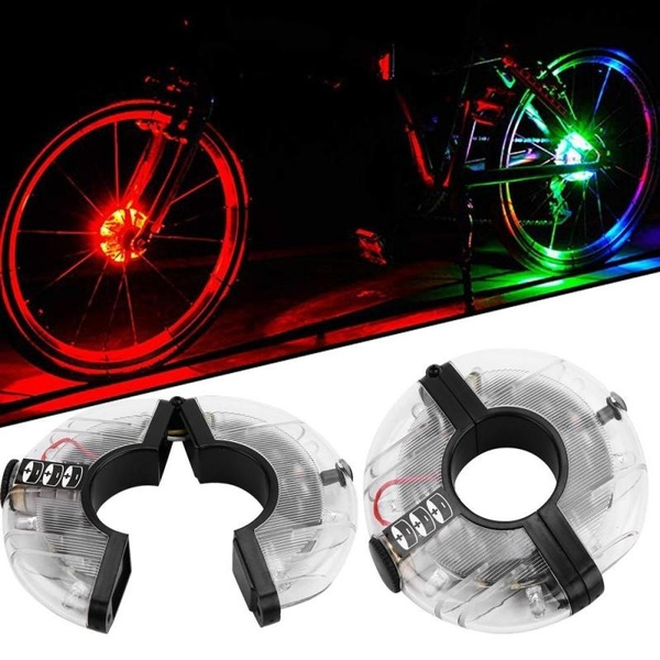 Rechargeable LED RGB Colorful Bike Wheel Hub Light Waterproof Bike Spoke Lights