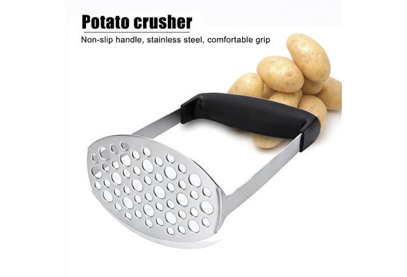 Kitchen Stainless Steel Potato Press Mud Masher Round Blender Tool Useful Q
