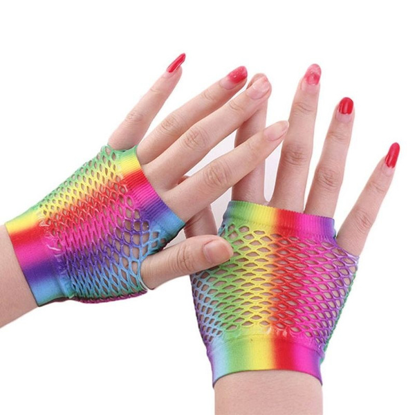 rainbow, Shorts, Cosplay, Mittens