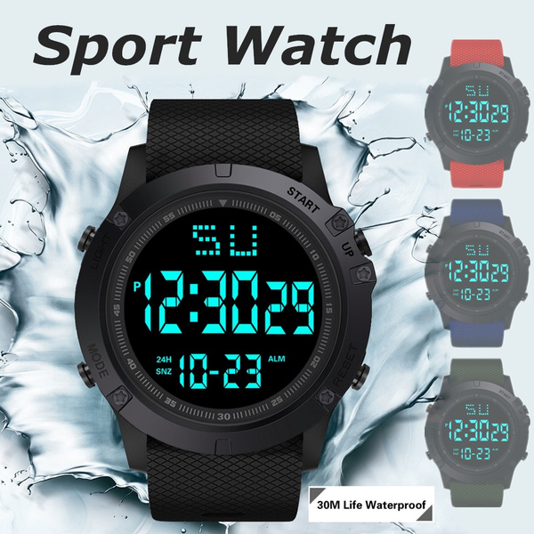 Fashion, led, Waterproof Watch, stainlesswatch