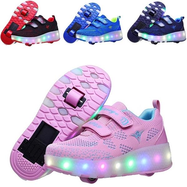 Sneakers, led, rollerskate, boys shoes