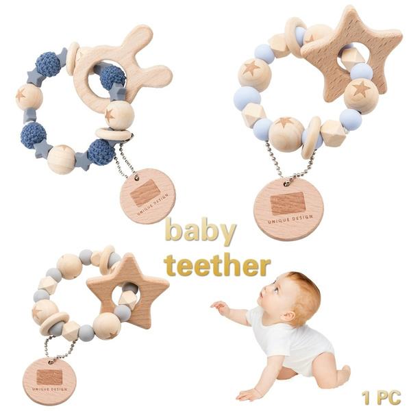 Toy, woodenanimal, babyteething, crochetbead