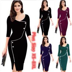 women dress, office dress, Sleeve, Office
