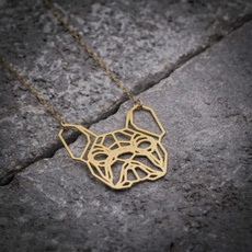 origaminecklace, Sterling Silver Jewelry, Jewelry, frenchbulldognecklace
