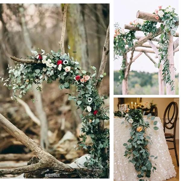 eucalyptusgarland, weddingdecorate, Hotel, Home Decor