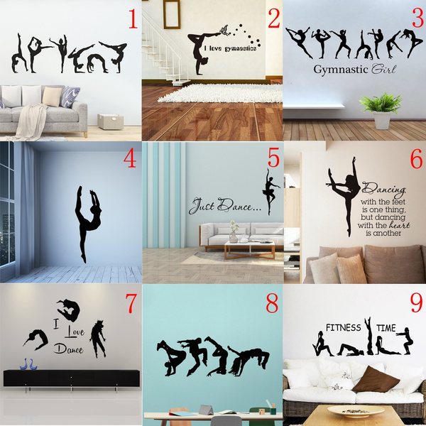 Gymnast Room Ideas Inspirational Sports Quotes For Girls Gymnastics Gymnastics Gymnastics Room Decor Girl Room Wall Stickers Sports
