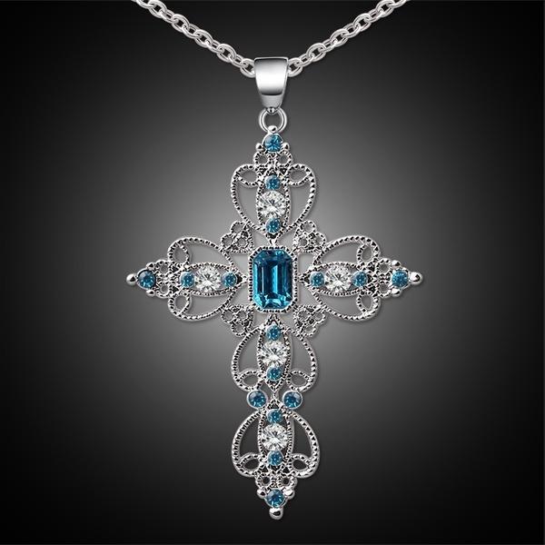 pink, Blues, Jewelry, Cross Pendant