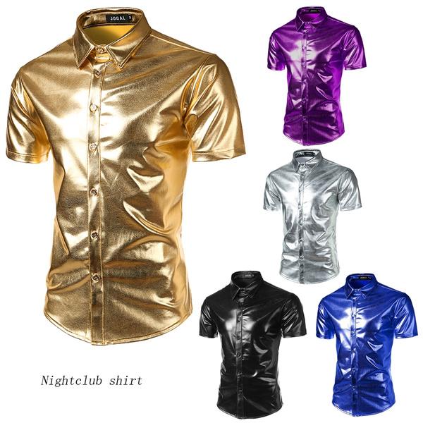 golden, Shorts, nightclubshirt, long sleeved shirt