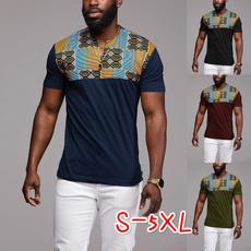 Plus Size, Shirt, Sleeve, dashikishirt