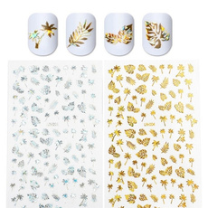 nail decals, Holographic, leaf, Jewelry