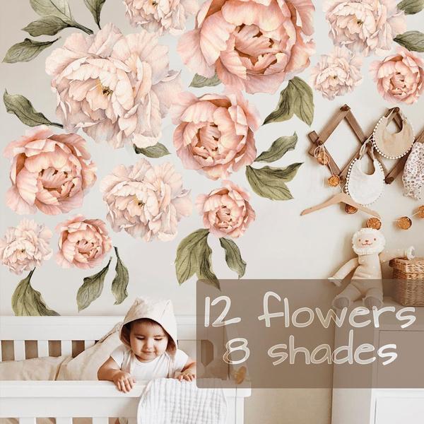 flowerwall, Wall Art, Vintage, Wall Decal
