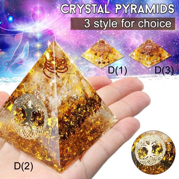 pyramid, Jewelry, gold, pyramidecrystal