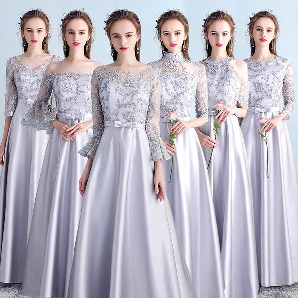 dancingparty, gowns, bridalveil, Gray