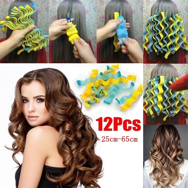 1EF5 3PCS Magic Hair Styling Curlers Rollers Large Hairdressing DIY Tool Former