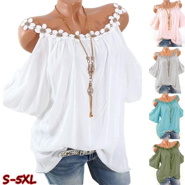 blouse, off shoulder top, Plus Size, Shirt