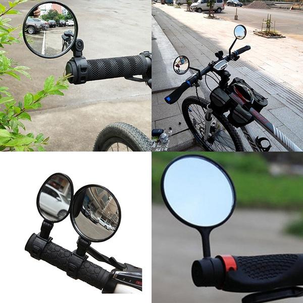 View Rotate Motorcycle Looking Glass Handlebar Bicycle Mirror MTB Bike Rearview