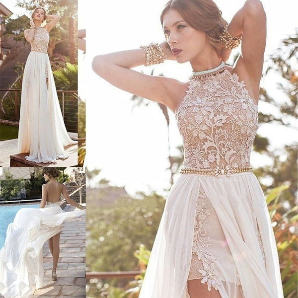 Fashion, Lace, chiffon, Evening Dress