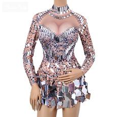 djcostume, singer, rhinestonesdres, Dress