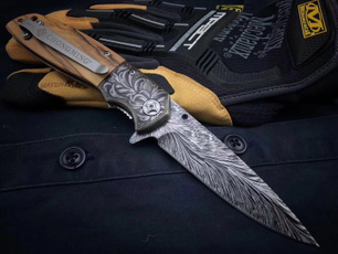 damascuspocketknife, highqualitypocketknife, fastopenfoldingknife, woodenhandlefoldingknife