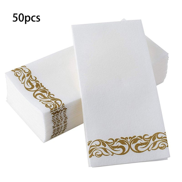 Disposable Hand Towels Decorative Bathroom Napkins Soft And Absorbent Linen Feel Paper Guest Towels For Kitchen Parties Weddings Dinners Or Events Jam Wish