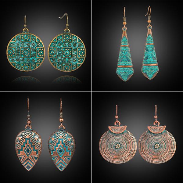 ethnicearring, Dangle Earring, Jewelry, vintage earrings