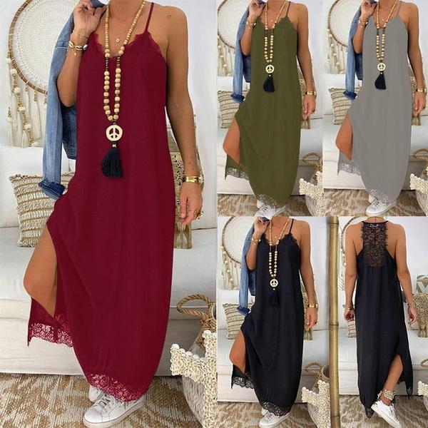 fashion women, Loose, Lace, Dresses