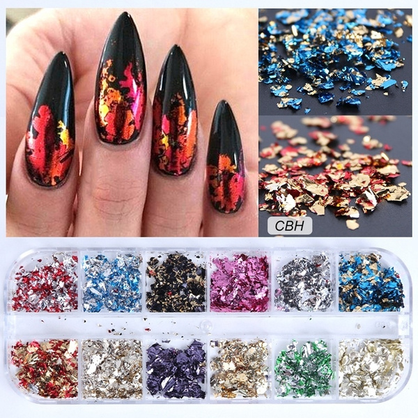 nail decoration, nail stickers, Holographic, Beauty